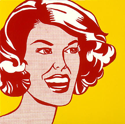 Head - red and yellow, 1962 by Roy Lichtenstein (1923-1997, United States) |  | WahooArt.com