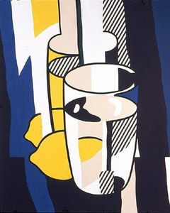Roy Lichtenstein - Glass and lemon in a mirror