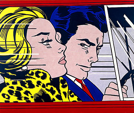 In the car, 1963 by Roy Lichtenstein (1923-1997, United States) |  | WahooArt.com