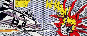 Roy Lichtenstein - Whaam! - (Famous paintings)