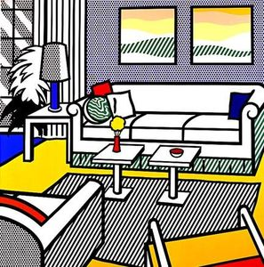 Roy Lichtenstein - Interior with restful paintings