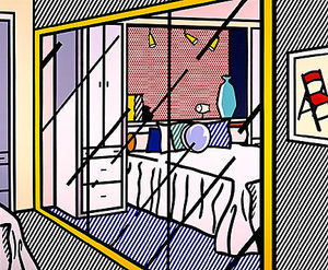 Roy Lichtenstein - Interior with mirrored closet
