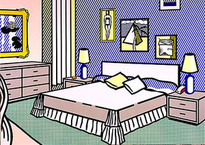 Roy Lichtenstein - Interior with water lilies