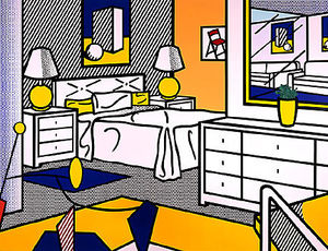 Roy Lichtenstein - Interior with mobile