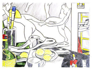 Roy Lichtenstein - Artist-s studio - The dance (sketch)