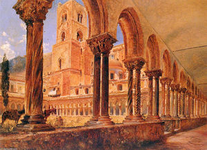 Rudolf Von Alt - A View Of Monreale, Above Palermo
