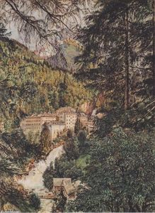 Rudolf Von Alt - View of Bad Gastein