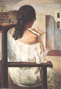 Salvador Dali - Seated Girl Seen from the Back