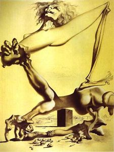 Salvador Dali - Premonition of Civil War - (paintings reproductions)