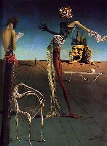 Salvador Dali - Woman with a Head of Roses