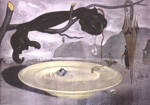 Salvador Dali - The Enigma of Hitler - (Famous paintings)