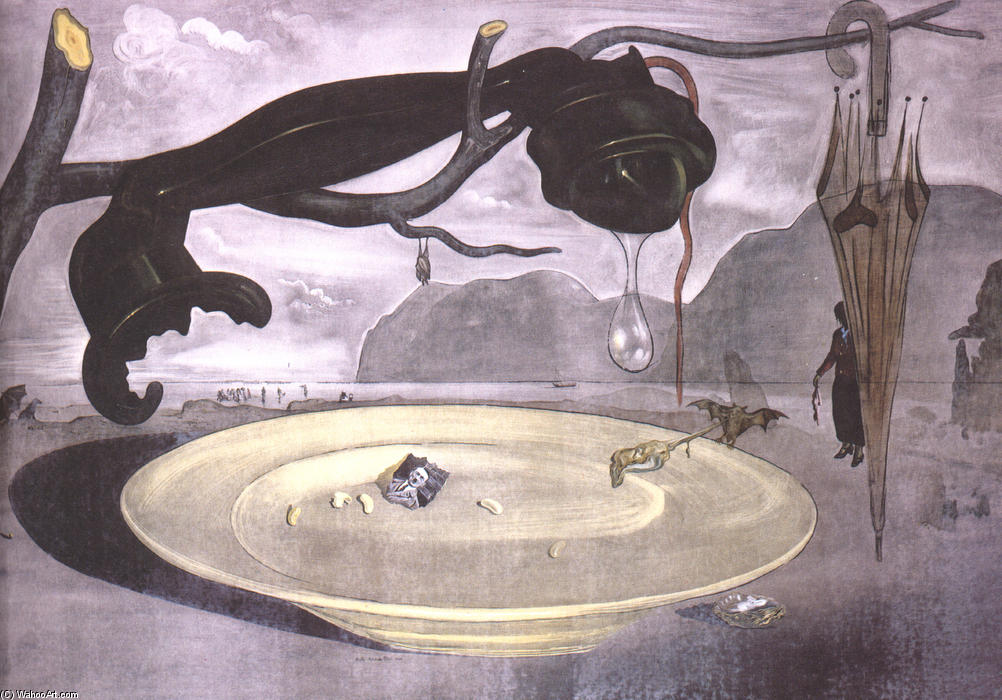 The Enigma of Hitler, Oil On Canvas by Salvador Dali (1938-3183, Spain)