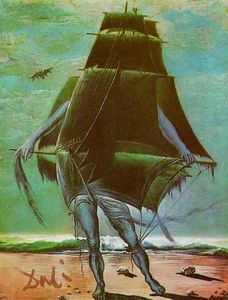 Salvador Dali - The Ship - (Famous paintings reproduction)