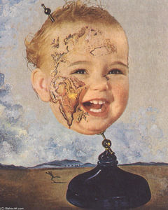 Salvador Dali - Baby Map of the World