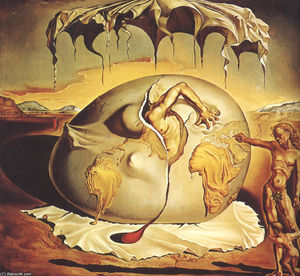 Salvador Dali - Geopolitical Child Watching the Birth of the New Man