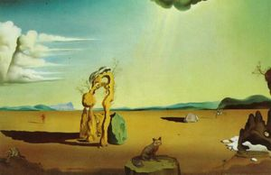 Salvador Dali - Nude in the Desert Landscape