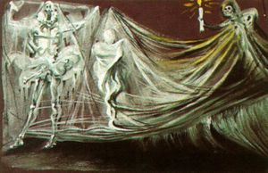Salvador Dali - Design for the Death Scene in -Don Juan Tenorio-