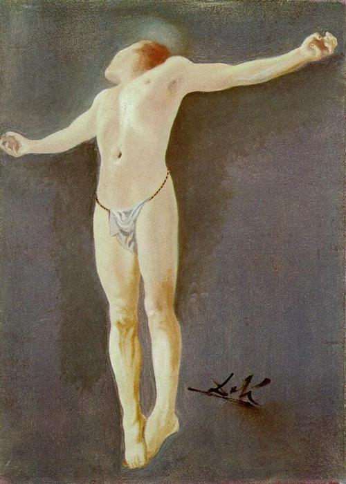 Crucifixion, 1954 by Salvador Dali (1904-1989, Spain) | Painting Copy | WahooArt.com