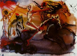 Salvador Dali - The Horseman of the Apocalypse