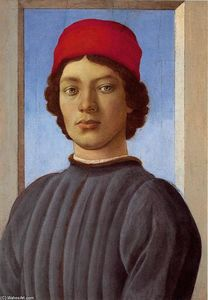 Sandro Botticelli - Portrait of a young man with red cap