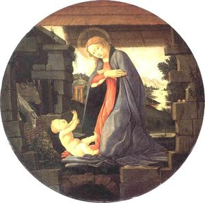 Sandro Botticelli - The Virgin Adoring the Child