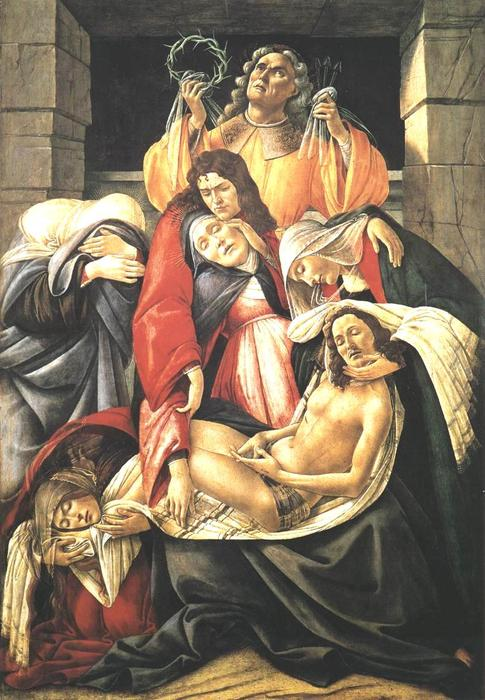 Lamentation over the Dead Christ, Oil On Canvas by Sandro Botticelli (1445-1510, Italy)