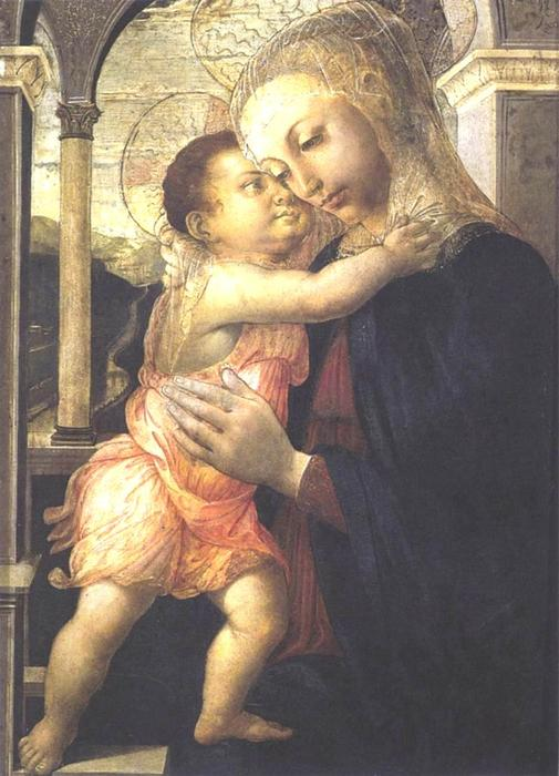Order Paintings Reproductions | Madonna and Child, 1467 by Sandro Botticelli (1445-1510, Italy) | WahooArt.com