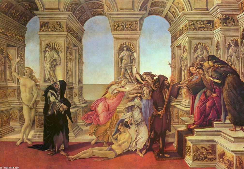 Calumny of Apelles, 1495 by Sandro Botticelli (1445-1510, Italy) | Museum Quality Copies Sandro Botticelli | WahooArt.com