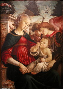 Sandro Botticelli - Virgin and child with two angels