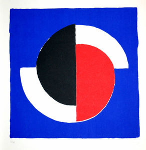 Sonia Delaunay (Sarah Ilinitchna Stern) - Composition Red, Blue, Black, White