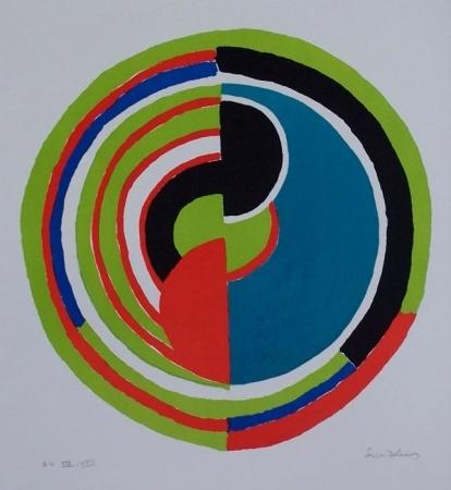 Abstract Swirl by Sonia Delaunay (Sarah Ilinitchna Stern) (1885-1979, Ukraine) | Famous Paintings Reproductions | WahooArt.com