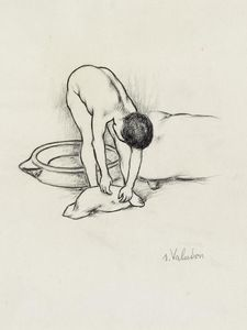 Suzanne Valadon - Female Nude, washing herself