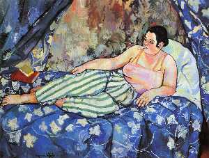 Suzanne Valadon - The Blue Room - (oil painting reproductions)