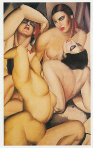 Tamara De Lempicka - Group of Four Nudes