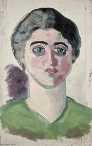 Theo Van Doesburg - Portrait of Lena Milius