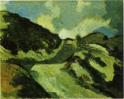 Dune landscape, Oil On Canvas by Theo Van Doesburg (1883-1931, Netherlands)