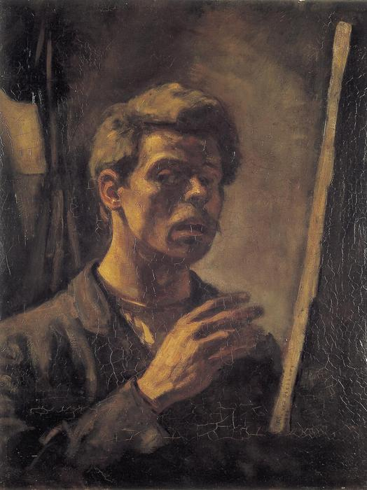 Self portrait, Oil On Canvas by Theo Van Doesburg (1883-1931, Netherlands)