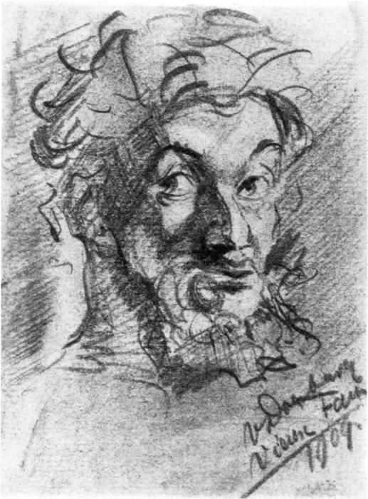 Old Faun (self portrait), Pencil by Theo Van Doesburg (1883-1931, Netherlands)