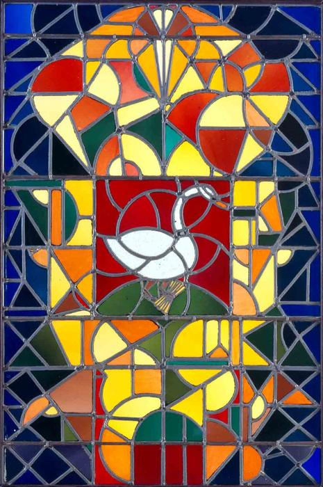 Leaded glass composition I, 1917 by Theo Van Doesburg (1883-1931, Netherlands) | WahooArt.com