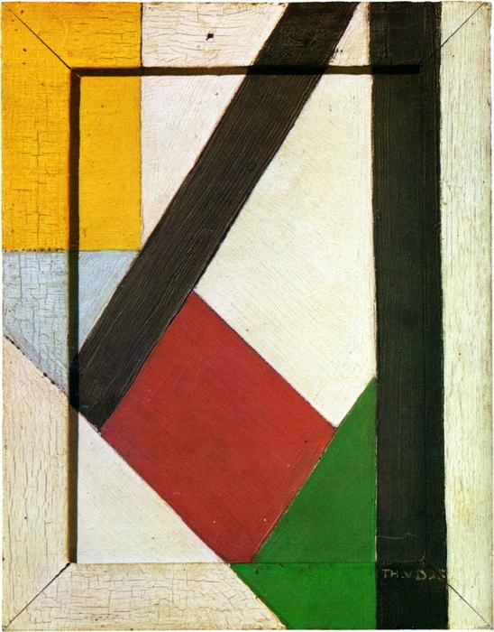 Composition, 1928 by Theo Van Doesburg (1883-1931, Netherlands) | Famous Paintings Reproductions | WahooArt.com