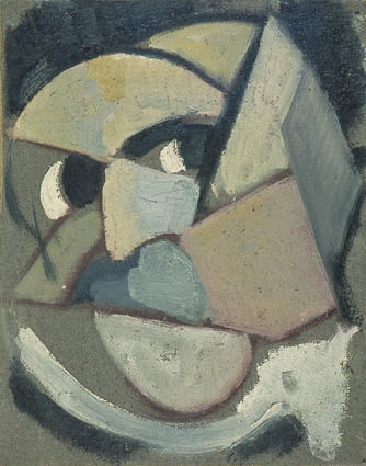 Abstract portrait, 1915 by Theo Van Doesburg (1883-1931, Netherlands) | Paintings Reproductions Theo Van Doesburg | WahooArt.com