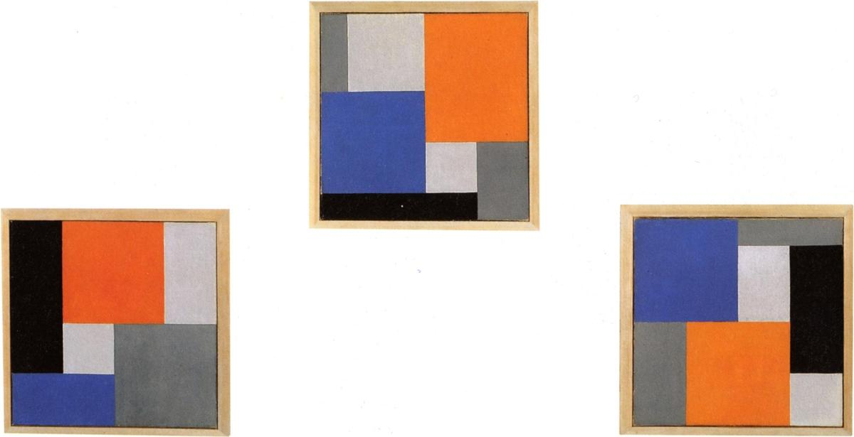 Composition XVIII in three parts, 1920 by Theo Van Doesburg (1883-1931, Netherlands) | Art Reproduction | WahooArt.com