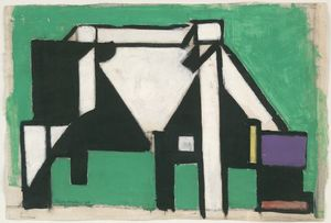 Theo Van Doesburg - Study for Composition VIII (The Cow)