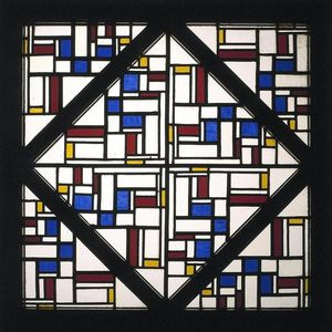 Theo Van Doesburg - Composition with window with coloured glass III