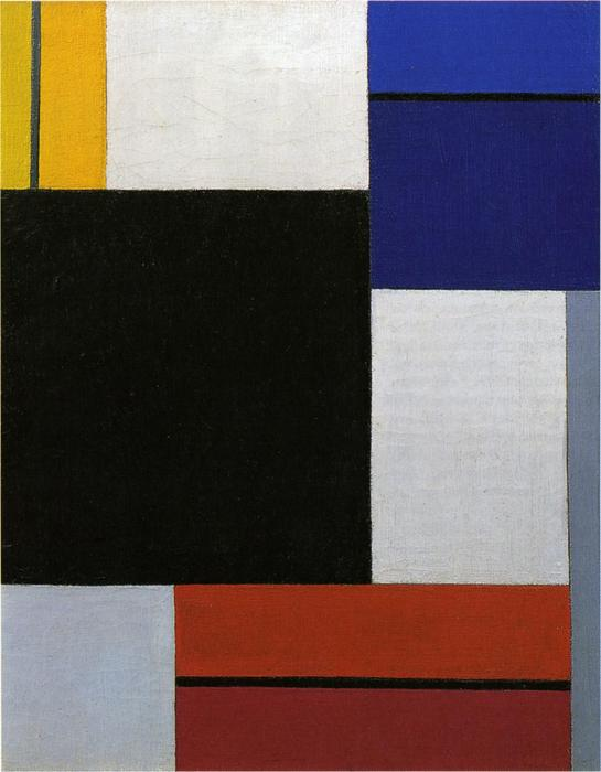 Composition XXI, Oil On Canvas by Theo Van Doesburg (1883-1931, Netherlands)