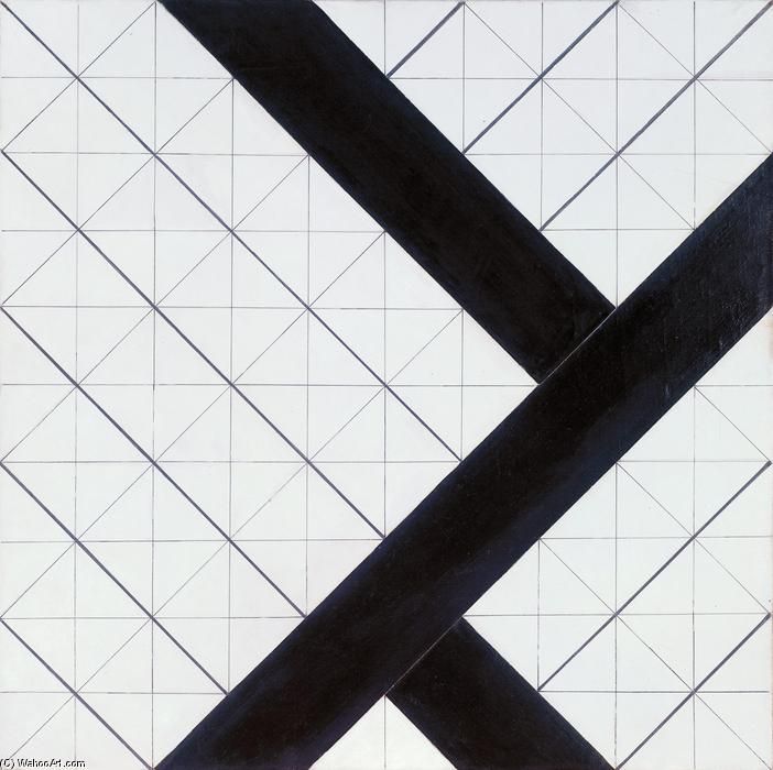 Counter composition VI, 1925 by Theo Van Doesburg (1883-1931, Netherlands) | WahooArt.com