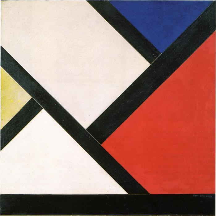 Counter composition XIV, 1925 by Theo Van Doesburg (1883-1931, Netherlands) | WahooArt.com