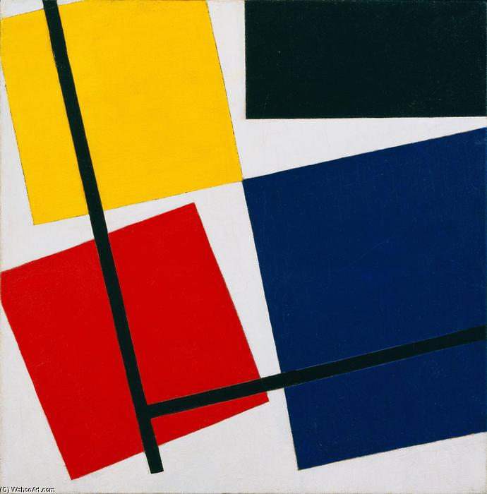Simultaneous Counter Composition., Oil On Canvas by Theo Van Doesburg (1883-1931, Netherlands)
