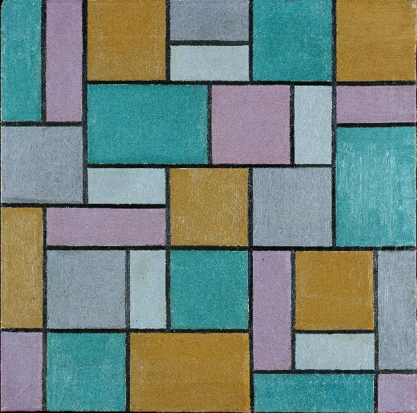 Composition XVII, Oil On Canvas by Theo Van Doesburg (1883-1931, Netherlands)