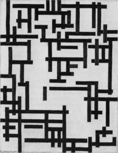 Theo Van Doesburg - Composition XIII (Woman in studio)